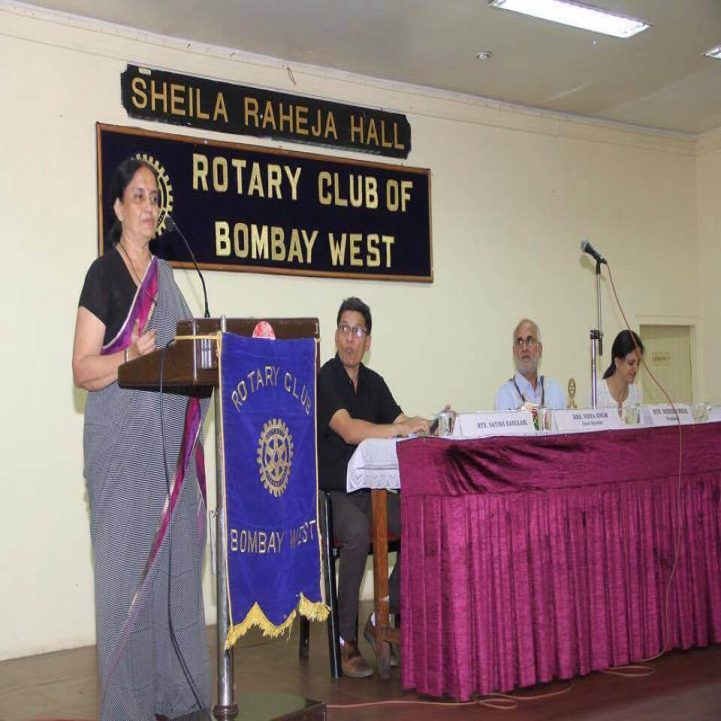 As a Guest speaker at Rotary Club